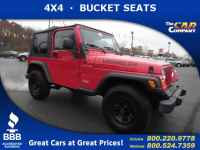 Used, 2000 Jeep Wrangler 2dr SE 4WD, Red, 789193-1