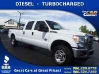 Used, 2015 Ford Super Duty F-250 SRW XLT 4WD, White, 25176-1