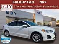 Certified, 2019 Ford Fusion Hybrid SE, White, KR137667-1